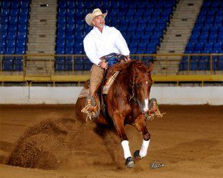 Wesley Brown reining horse