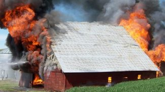 burning barn
