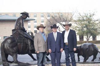 Three men standing still