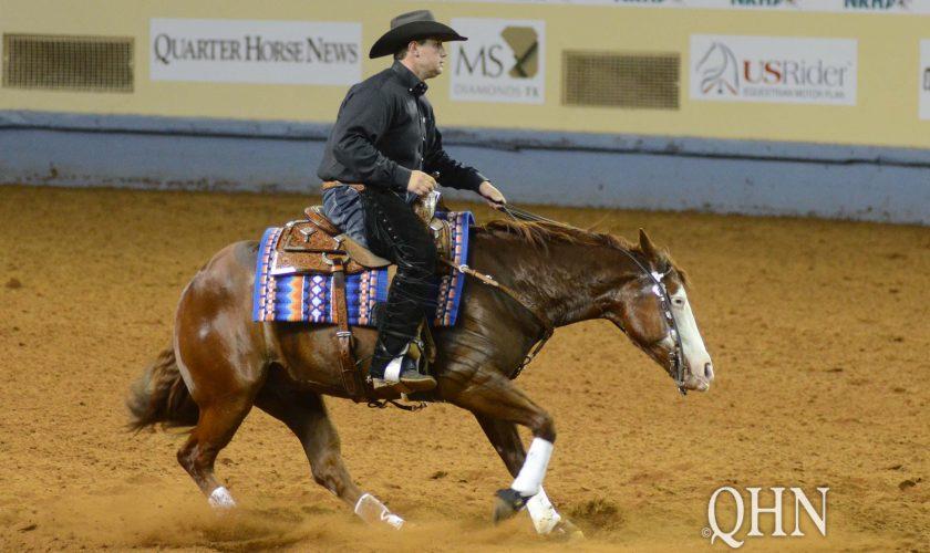 horse spins in NRHA Derby Open