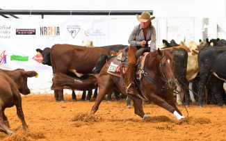 Shona Dufurrena and Ricky N Reyd at the AQHA Adequan® Select World Championship Show.