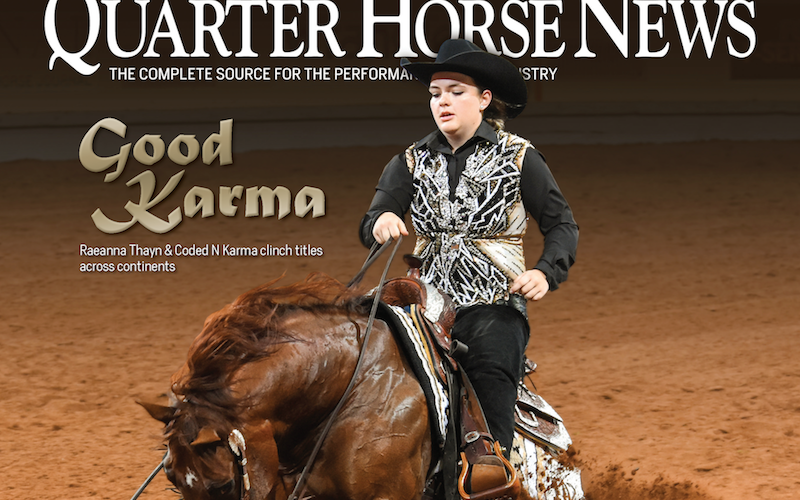 snippet from Quarter Horse News September 15 2019 cover