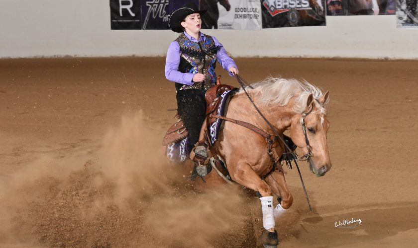 Xtra Cee A Doctor and Kylie Robinson at the High Roller Reining Classic.