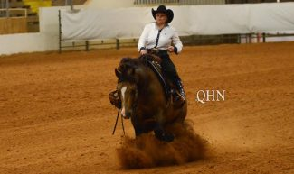 Mandy McCutcheon at the SWRHA Futurity.