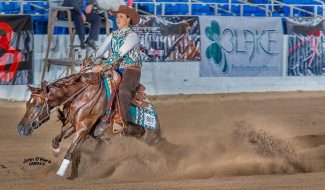 Cori Vokoun rode Humble And Kind at the 2019 AzRHA BOTW.