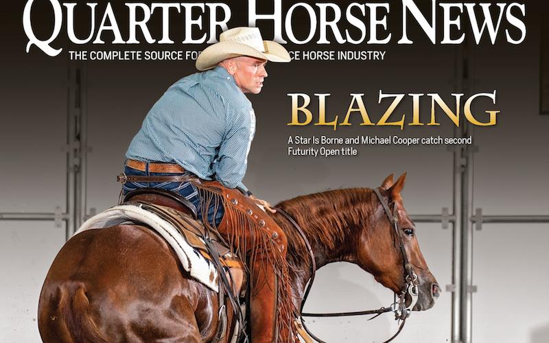 Quarter Horse News magazine November cover snippet