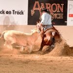 Justin Wright and Lil Bay Hawk at the NRCHA Derby 2017