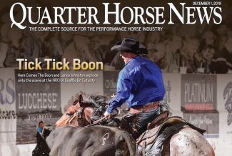 Quarter Horse News magazine cover snippet
