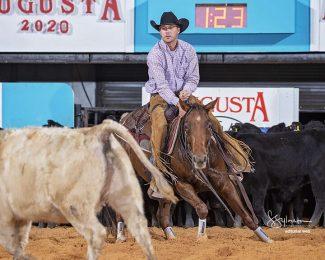 Augusta Futurity winners Reyvin and Ben Johnson