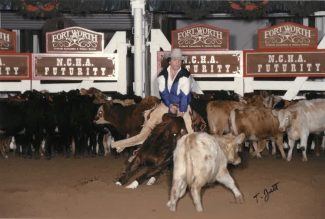 Lee Garner and Peponitas Acre at the 1996 NCHA Futurity.