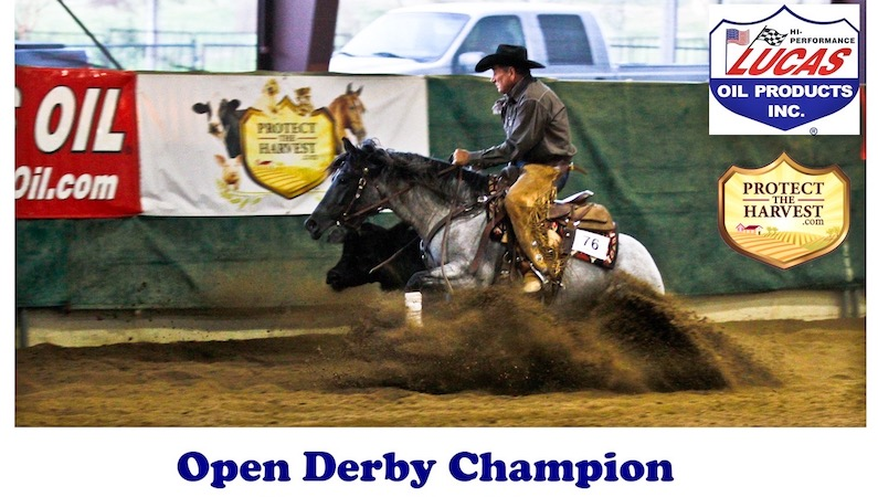 Dirt & Diamonds Open Champion Peppys On Time and Randy Paul