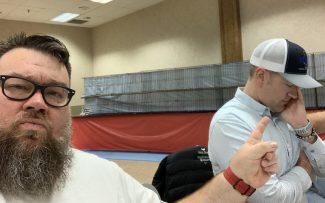 Daryl Felsburg and Shane Plummer discussing politics