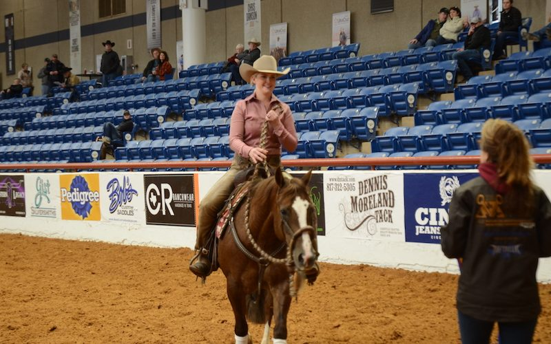 Sparking Metallic and Hope Miller at the NRCHA Celebration of Champions