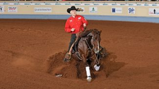 NRHA Futurity Champions Cade McCutcheon and Super Marioo