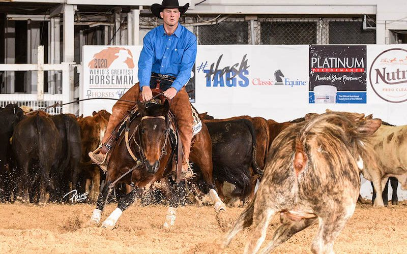 Twice In A Blu Moon and Myles Brown at the NRCHA Celebration of Champions
