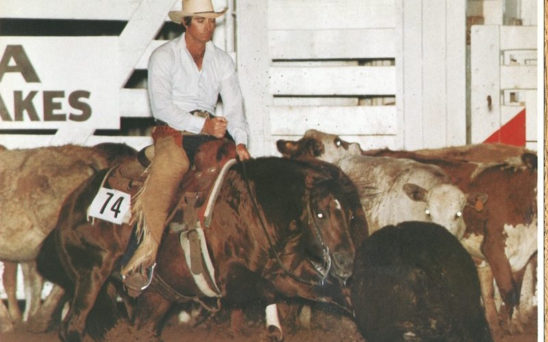 Joe Heim and Docs Okie Quixote at the 1984 Super Stakes