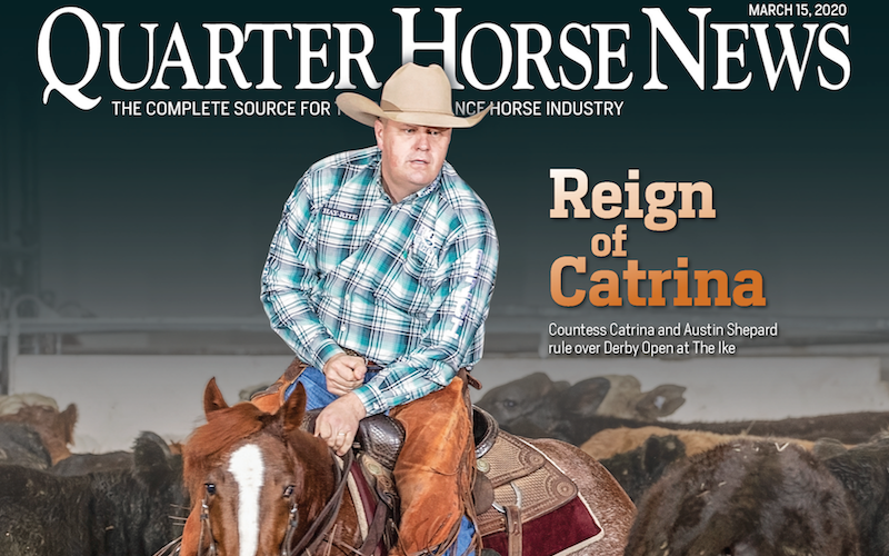 Quarter Horse News magazine March 15, 2020 cover snippet