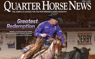 Quarter Horse News magazine April 1, 2020 cover snippet