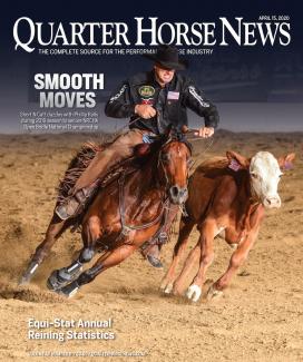 Quarter Horse News magazine april 15, 2020 cover