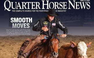 Quarter Horse News magazine April 15, 2020 cover snippet