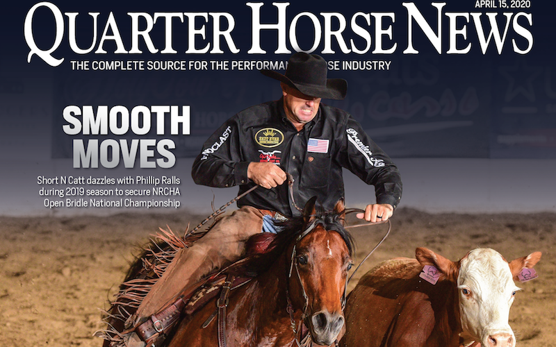 Quarter Horse News magazine April 15, 2020 cover snippet