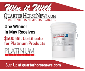 Quarter Horse News monthly contest May 2020