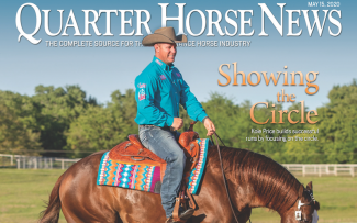 Quarter Horse News magazine May 15 cover snippet