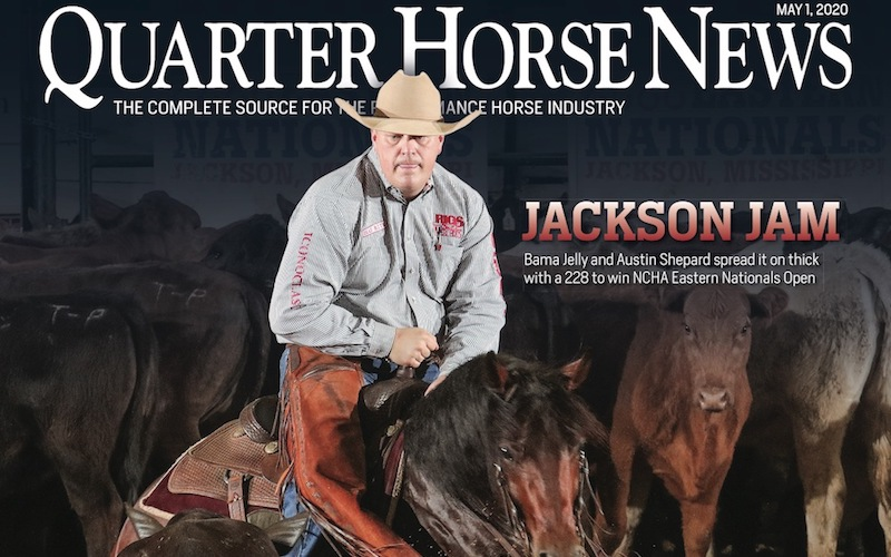 Quarter Horse News magazine May 1 2020 cover snippet
