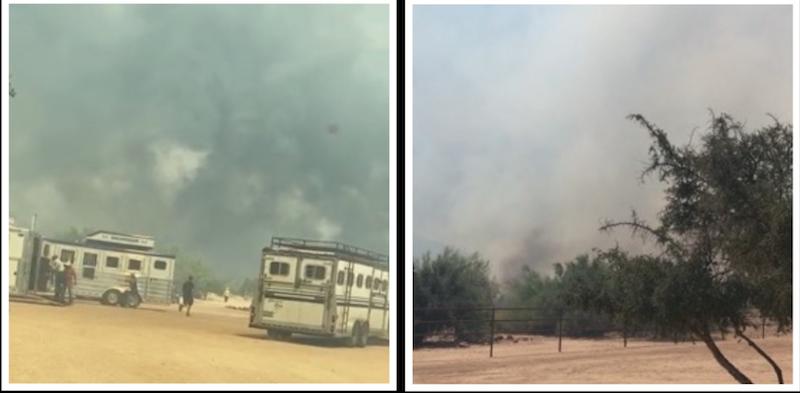 Arizona wildfire from Pedro Baiao's ranch