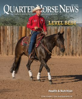 quarter horse news magazine june 1, 2020, cover