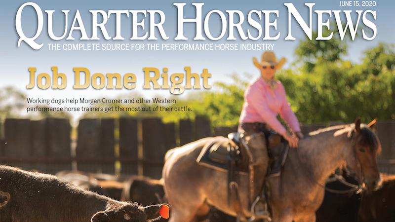 Quarter Horse News June 15, 2020, cover snippet