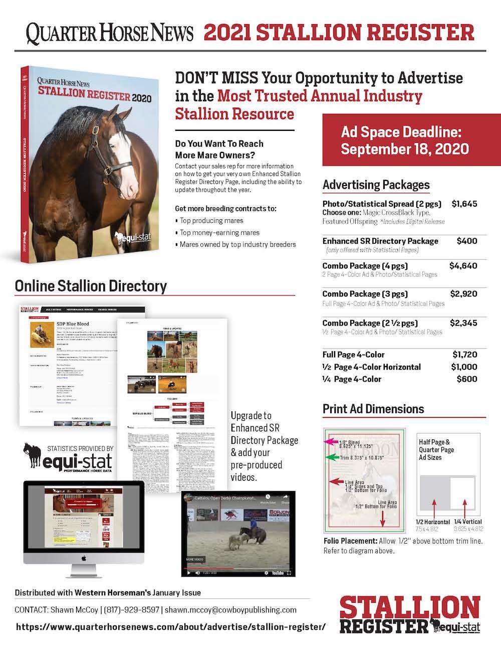 stallion register sales info page