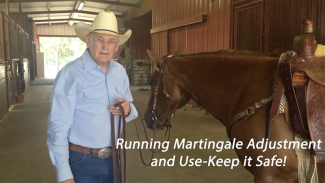 dennis moreland illustrating how to adjust a running martingale