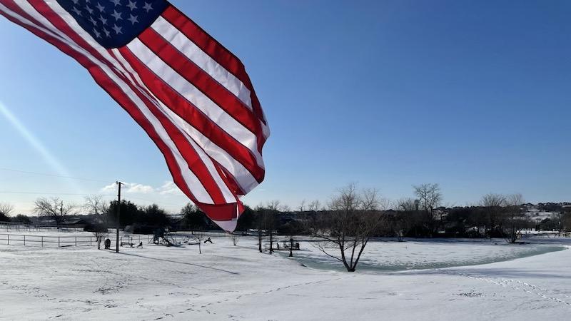 american-flag-texas-winter
