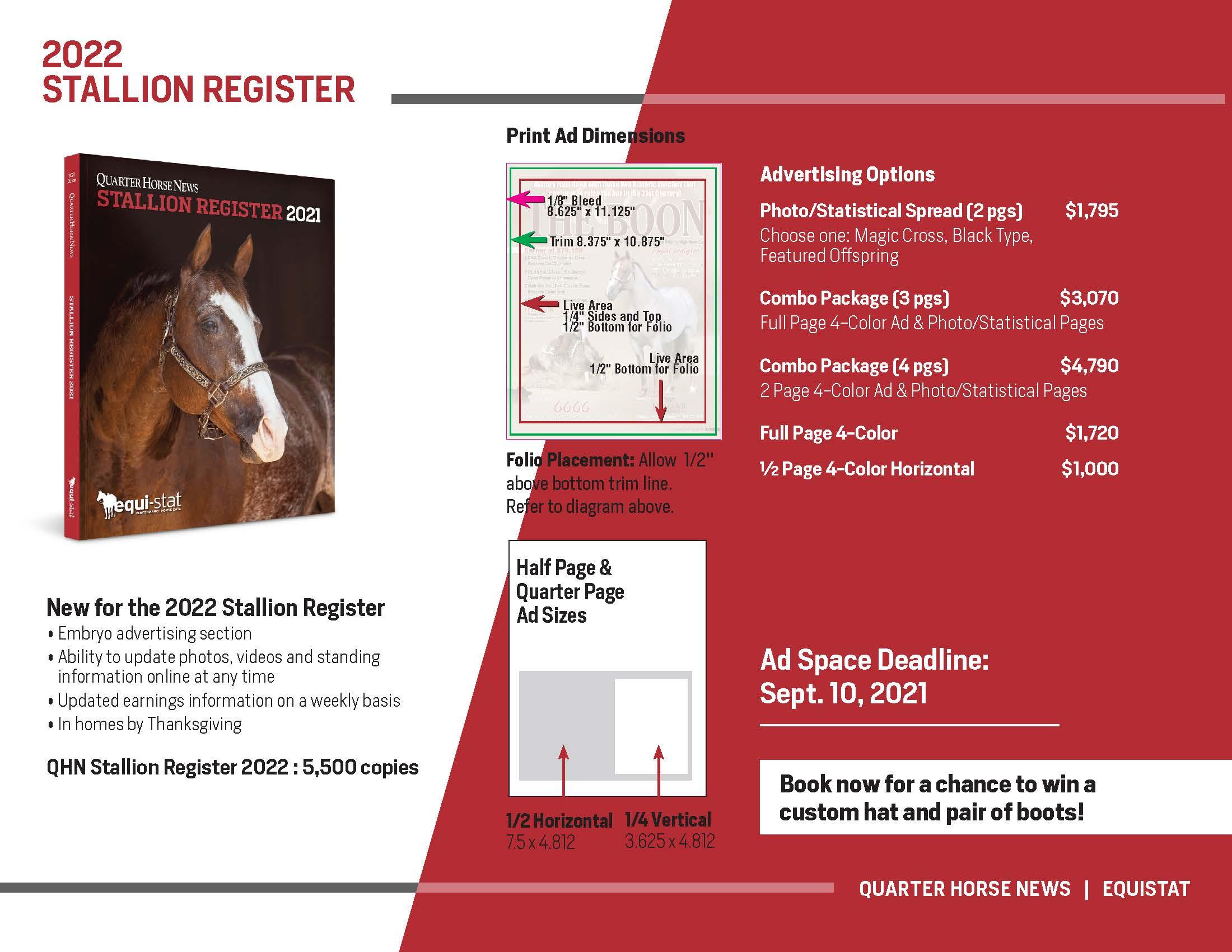 2022 SR sales info sheet